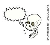 cartoon laughing skull with... | Shutterstock .eps vector #243003646