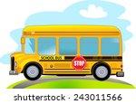 cartoon school bus   Shutterstock .eps vector #243011566