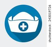 nurse hat design  vector...   Shutterstock .eps vector #243019726