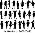 children silhouettes | Shutterstock .eps vector #243020692