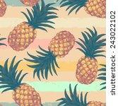 hand drawn seamless pattern... | Shutterstock .eps vector #243022102