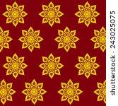 thai art pattern   Shutterstock .eps vector #243025075