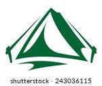 tent   Shutterstock .eps vector #243036115