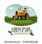 Tractor Vector Logo Design...