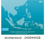asean map dotted style... | Shutterstock .eps vector #243044428