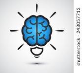 brain light bulb icon. idea    Shutterstock .eps vector #243057712