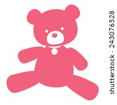vector neat picture pink bear   ... | Shutterstock .eps vector #243076528