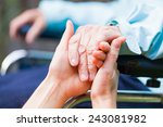 young carer giving helping... | Shutterstock . vector #243081982