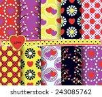 set of vector abstract...   Shutterstock .eps vector #243085762