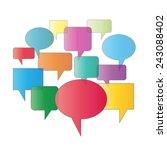 vector sign speaking on white... | Shutterstock .eps vector #243088402