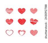heart vector   Shutterstock .eps vector #243092788