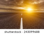 ring road around iceland  | Shutterstock . vector #243099688