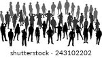 group of people | Shutterstock .eps vector #243102202