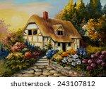 Oil Painting Of Fairy House  Art