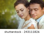 bride and groom on their... | Shutterstock . vector #243111826