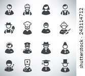 profession icons vector set | Shutterstock .eps vector #243114712