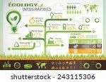 ecology infographics ... | Shutterstock .eps vector #243115306