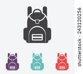 school backpack vector icon | Shutterstock .eps vector #243120256
