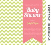 baby shower invitation   green... | Shutterstock .eps vector #243122656