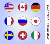 flag icon | Shutterstock .eps vector #243133945