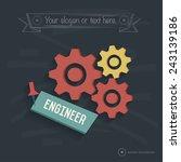 engineer design on blackboard...
