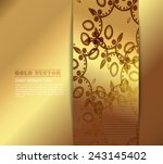 gold background with floral... | Shutterstock .eps vector #243145402