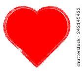 grunge heart   valentine  ... | Shutterstock .eps vector #243145432