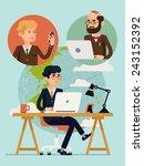 vector modern flat design... | Shutterstock .eps vector #243152392