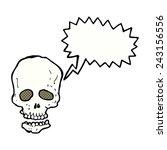 cartoon skull with speech bubble | Shutterstock .eps vector #243156556
