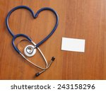 a stethoscope in a shape of... | Shutterstock . vector #243158296