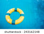 life preserver floating in a ... | Shutterstock . vector #243162148