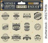 vintage vector logotypes ... | Shutterstock .eps vector #243175456