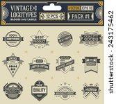 vintage vector logotypes ... | Shutterstock .eps vector #243175462