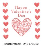 valentine heart vector set  ... | Shutterstock .eps vector #243178012