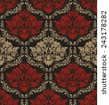seamless pattern of red and... | Shutterstock .eps vector #243178282
