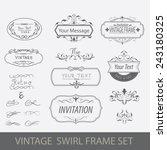 vintage swirl frame set vector... | Shutterstock .eps vector #243180325