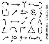 arrow icons | Shutterstock .eps vector #243180406