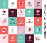 set of flat design icons for... | Shutterstock .eps vector #243190852