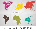 the separated area of each... | Shutterstock .eps vector #243191986