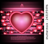 valentines day glowing... | Shutterstock .eps vector #243195496