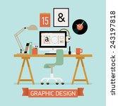 vector modern flat concept... | Shutterstock .eps vector #243197818