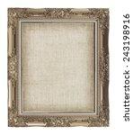 golden frame with empty grunge... | Shutterstock . vector #243198916