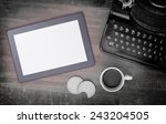 Tablet Touch Computer Gadget On ...