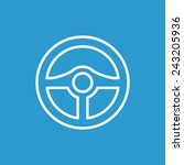 ������, ������: steering wheel outline icon