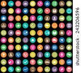100 corporate icons big... | Shutterstock .eps vector #243206596