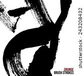 brush stroke and texture.... | Shutterstock .eps vector #243208432