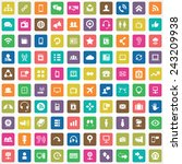 100 communication icons big... | Shutterstock .eps vector #243209938