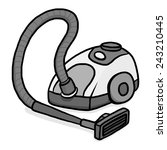 vacuum cleaner   cartoon vector ... | Shutterstock .eps vector #243210445