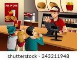 a vector illustration of kids... | Shutterstock .eps vector #243211948