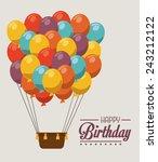 airballoon design over gray...   Shutterstock .eps vector #243212122